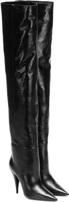 Saint Laurent Kiki 100 leather over-the-knee boots