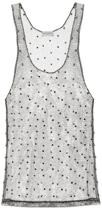 Saint Laurent Embellished woven top
