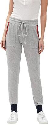 Michael Stars Nikki Madison Brushed Jersey Slim Joggers (Heather Grey/Pepper/Admiral) Women's Clothing