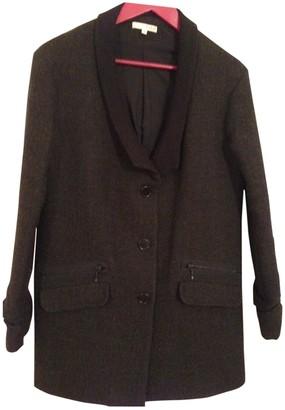 BA&SH Fall Winter 2018 Anthracite Wool Coat for Women