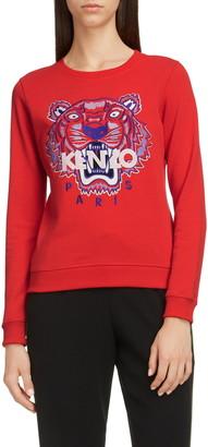 Kenzo Classic Tiger Embroidered Slim Sweatshirt