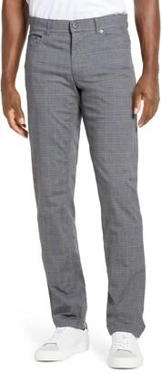 Brax Cooper Fancy Houndstooth Plaid Five-Pocket Pants