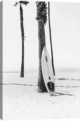 iCanvas Surf Board In Black & White By Sisi & Seb Wall Art