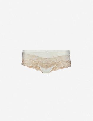 Aubade Soleil Nocturne mid-rise stretch-lace briefs