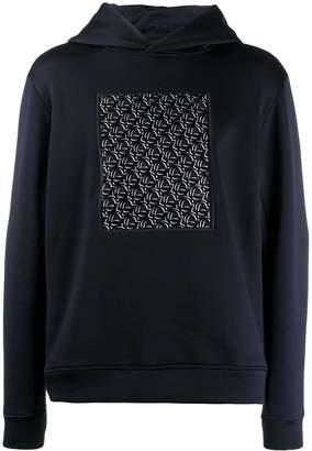 Giorgio Armani logo print hoodie