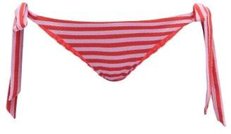 Casa Raki - Cindy Tie-side Bikini Briefs - Womens - Red Stripe