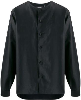 Costumein Collarless Cotton Shirt
