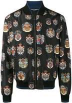 Dolce & Gabbana insignia print bomber jacket