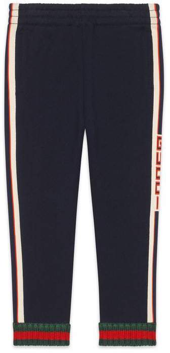 Gucci Children's pant with jacquard trim