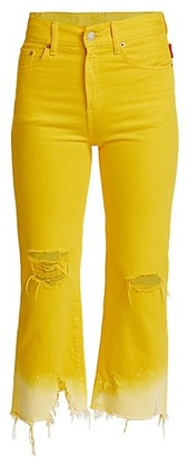 Denimist Pierce High-Rise Crop Wide-Leg Jeans