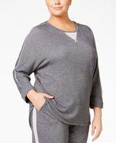 Karen Neuburger Plus Size Lace-Inset Pajama Sweatshirt