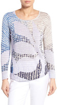 Nic+Zoe Dayflower Linen Blend Top
