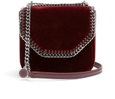 Stella McCartney Falabella Box mini velvet cross-body bag