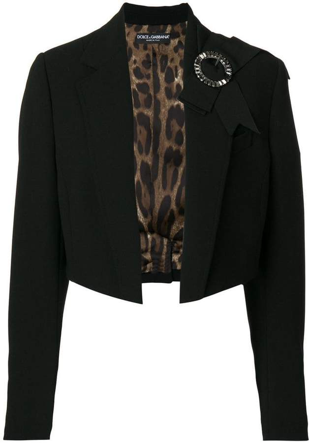 Dolce & Gabbana cropped bow detail jacket