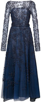 Oscar de la Renta flared embellished evening dress