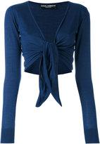 Dolce & Gabbana front-tie cardigan - women - Silk/Cashmere - 40