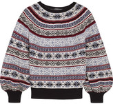 Alexander McQueen Fair Isle Knitted Sweater - Navy