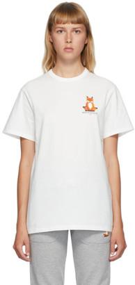 MAISON KITSUNÉ White Lotus Fox T-Shirt