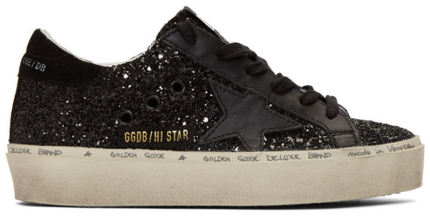 Golden Goose Black Hi Star Sneakers