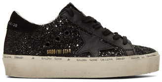 Golden Goose Black Glitter Hi Star Sneakers