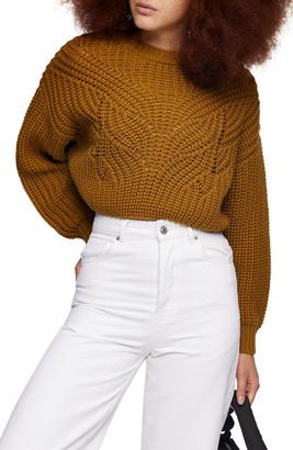 Topshop Butterfly Super Crop Sweater
