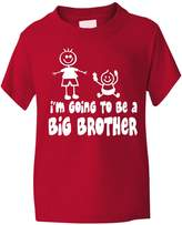 Print4U I'm Going To Be Big Brother Funny Boys T-Shirt 7-8 BLACK TEXT
