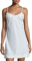 Natori Paradise Lace-Trim Chemise, White