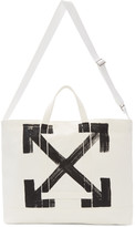 Off-White White Brushed Arrows Tote