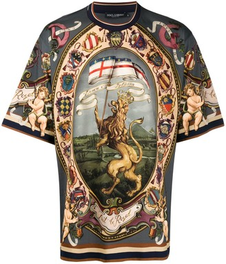 Dolce & Gabbana lion print T-shirt