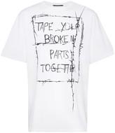 Haider Ackermann slogan print short-sleeved cotton T-shirt