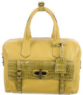 Reed Krakoff Crocodile-Trimmed Handle Bag