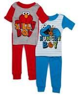 AME Sleepwear Little Boy's Seaseme Street Four-Piece Tee & Pants Set