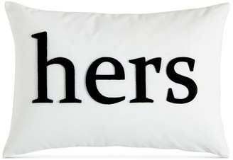 "Charter Club Damask Designs Word 12"" x 18"" Decorative Pillow, Bedding"