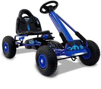 Rigo Kid's Pedalled Powered Go Kart Blue