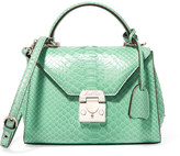 Mark Cross Hadley Baby Python Shoulder Bag - Mint