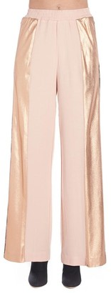 Nude Logo Piping Wide-Leg Pants