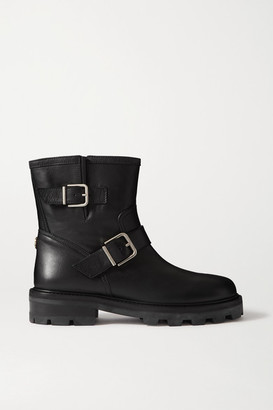 Jimmy Choo Youth Ii Buckled Leather Ankle Boots - Black