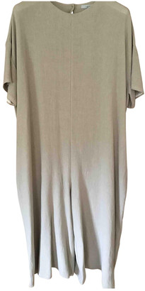Dusan Beige Linen Jumpsuit for Women