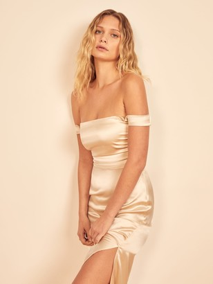 Reformation Champagne Dress