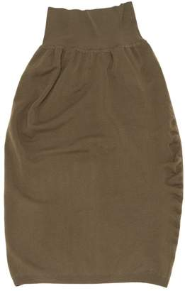 Alaia Khaki Wool Skirts