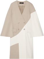 Tibi Siku two-tone wool-blend coat