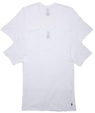 Polo Ralph Lauren Classic Fit Big & Tall V-Neck T-Shirt 2-Pack