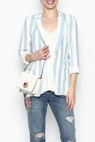 Olivaceous Stripe Linen Blazer