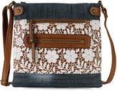 Scarleton Denim Lace Crossbody Bag H190807