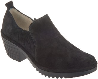 Fly London Suede Low Ankle Slip-on Shoes - Wate