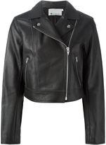 Alexander Wang classic biker jacket - women - Lamb Skin/Viscose - 8