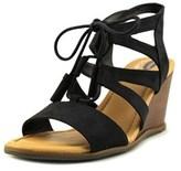 Dr. Scholl's Celeste Open Toe Canvas Wedge Heel.