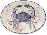 "Certified International Coastal Postcards 15.75"" x 11.75"" Oval Serving Platter"