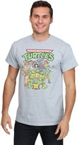 Freeze Mens mens TMNT Classic Group Shot Turtles & Baddies Men's T-Shirt