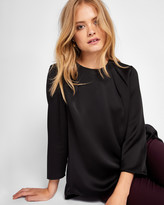Ted Baker Draped back cropped sleeve top